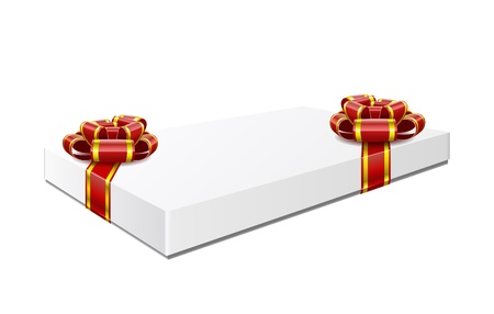 Gift box with red bows are isolated on white background  Stock Vector - 16464583