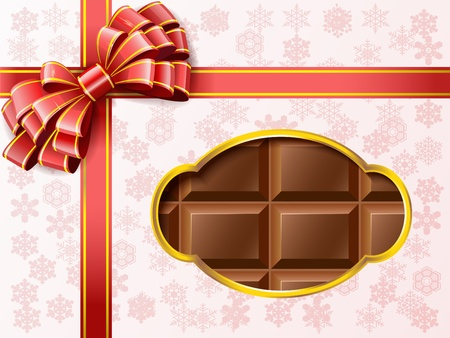 Chocolates in a box with a bow are shown in the image  Stock Vector - 16508714