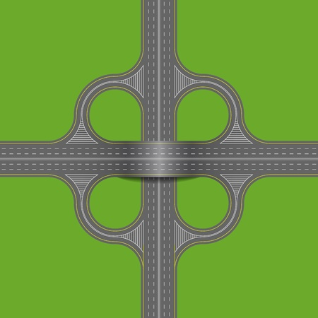 underpass: Crossroads is shown in the picture. Illustration