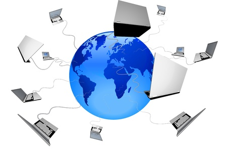 Global workgroup is shown in the image. Stock Photo - 16915896