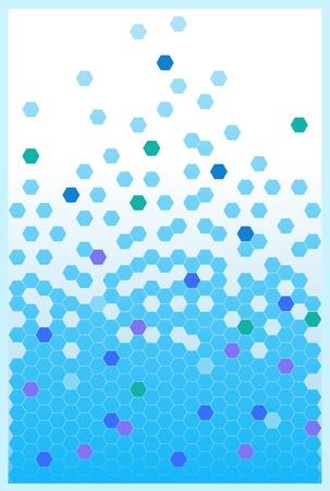 Abstract background aus Sechsecken in der Abbildung dargestellt. Standard-Bild - 16942793
