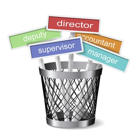 Bin with job cards. Vector