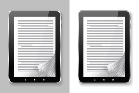 E-books are on the different backgrounds. Illustration