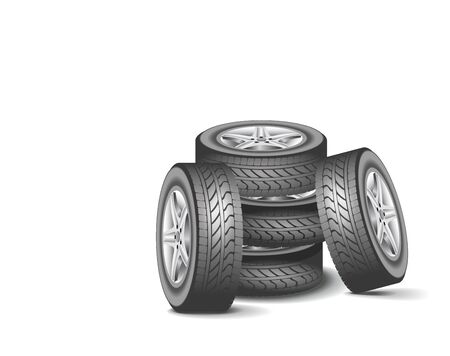 Modern tires are shown in the image Stock Vector - 20579153