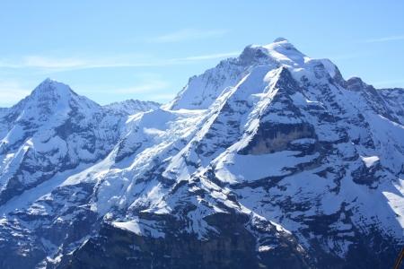 Mountain landscape is shown in the image  Standard-Bild