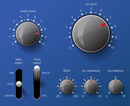 control panel: Pannello di controllo Musical Vettoriali