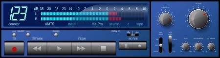 control panel: Pannello di controllo musicale.