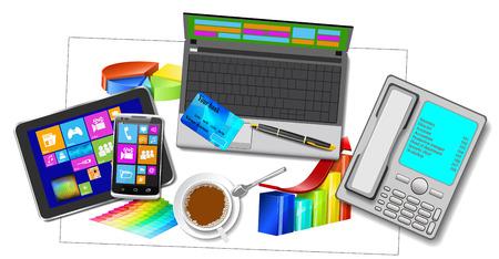 Office modern equipment. Stock Vector - 24019038