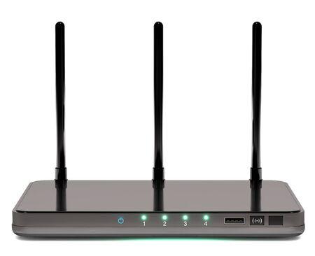 Modern router on white ackground. Stock Photo - 51508282