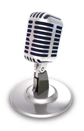 vocal: Professional vocal microphone on white background.