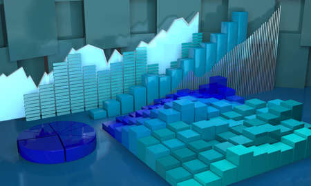 finance report: Diagrams as progress in global,business abstract background