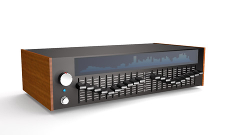 Sound octave equalizer on white background (3d illustration)