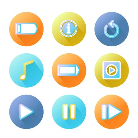 Icon set for web design, can be use for phone. Vector. EPS 10. Vectores