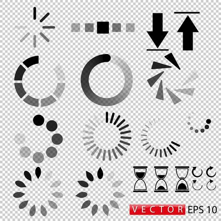 Download, icon set isolated on a transparent background. Vector. EPS 10