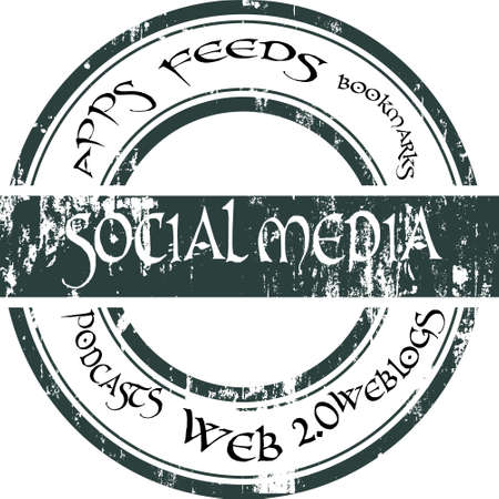 Social Media Badge  Vector
