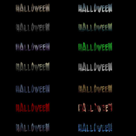 Halloween Word  Stock Photo