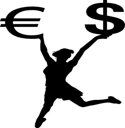 dolar: Euro and Dolar