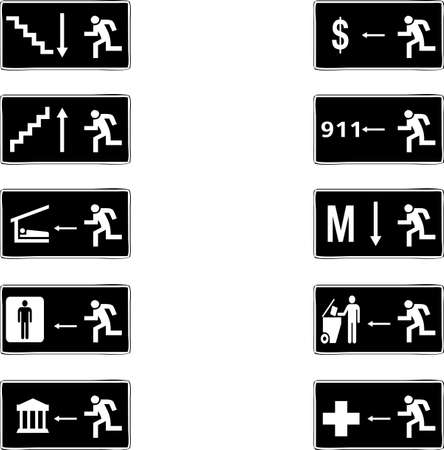 Exit pictograms  Stock Photo