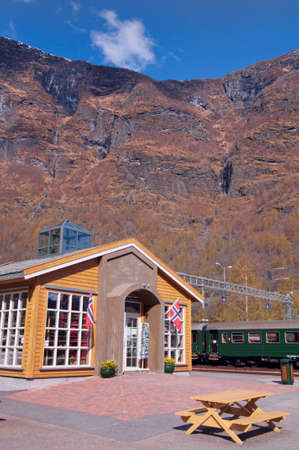 Flam Train Station in Norway Stock Photo