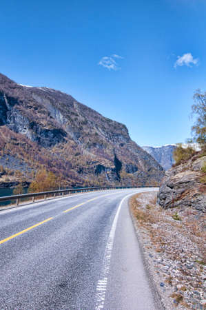Road in Flam Norway Stock Photo