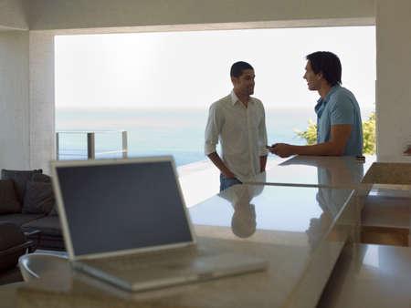 two men talking: Two men talking LANG_EVOIMAGES