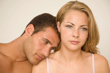 turkish ethnicity: Close-up of a young man romancing with a young woman LANG_EVOIMAGES