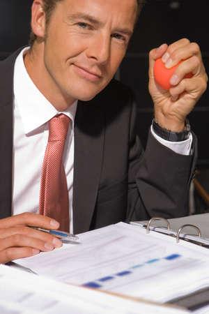 smirking: Portrait of a businessman smirking