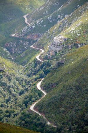 no pase: histórico paso de montaña, Western Cape, Sudáfrica