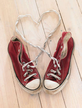 shoelaces: Shoes and shoelaces in heart shape