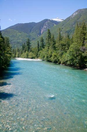ful: Skagit river,Snoqualmie National Forest,Washington,USA