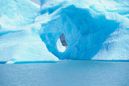 argentino: View of an iceberg and Lago Argentino,Argentina