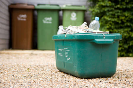 bundling: Box of recycling outdoors