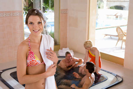 hot tub: Couples in hot tub