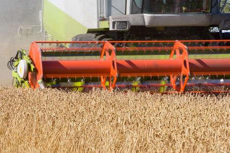 combine: Combine harvesting wheat LANG_EVOIMAGES