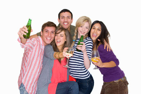 drinking alcohol: Friends drinking alcohol