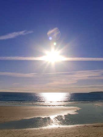 cornwall: Sun, beach and ocean at Gerrans Bay, Cornwall, United Kingdom LANG_EVOIMAGES