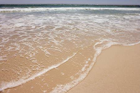 ocean waves: Ocean waves flowing on beach
