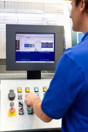 control panel: Botones trabajadores ajuste en el panel de control de la f�brica