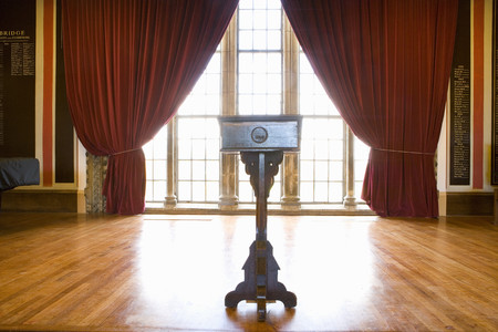 lectern: Lectern in hall
