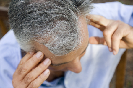 male headache: An elderly man