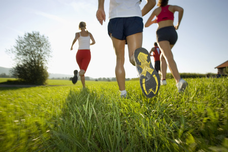 physical fitness: Men and women jogging