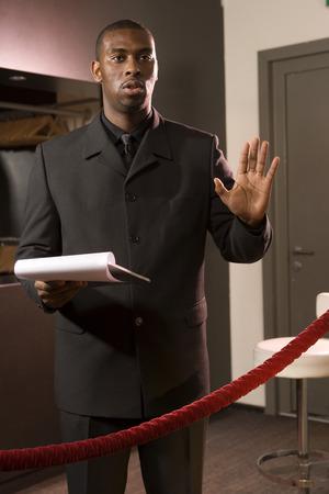 A bouncer in a nightclub