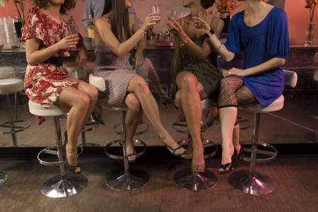 lower section: Women drinking at a bar