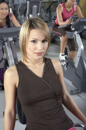 three persons only: Women in the gym