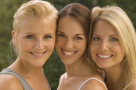 off shoulder: Portrait of three women