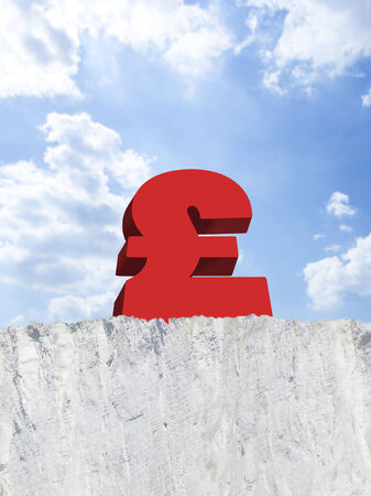 attempted: British pound on edge of cliff LANG_EVOIMAGES