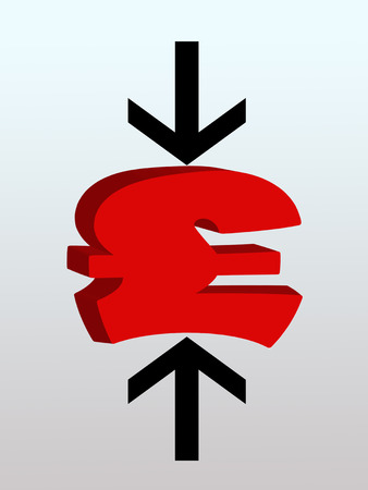 attempted: Arrows squeezing British pound symbol