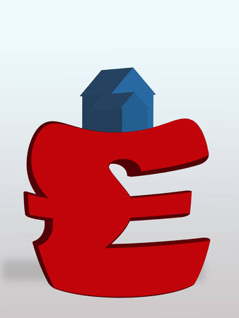 attempted: House weighing down British pound symbol LANG_EVOIMAGES