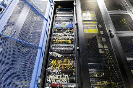 aisles: Server cabinet in data centre LANG_EVOIMAGES