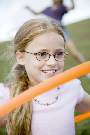 A young girl playing Stock Photo